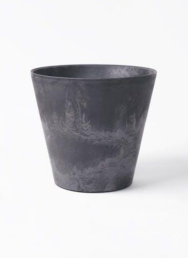 鉢カバー アートストーン ラウンド 8号鉢用 ブラック #GREENPOT AS-102164