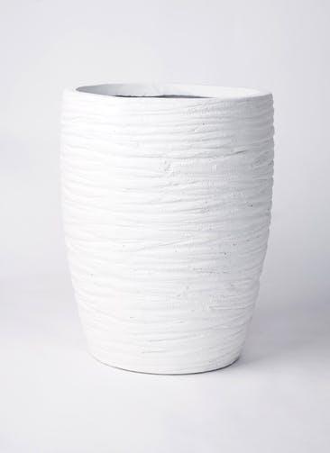 鉢カバー サン ミドル リッジ 8号鉢用 白 #KONTON FM-023W36E