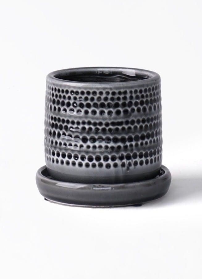 鉢カバー ソルドットポット 4号鉢用 ブラック #Y'S SPACE 2671