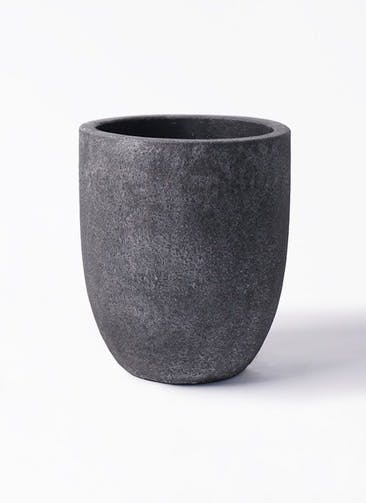 鉢カバー フォリオアルトエッグ 8号鉢用 ブラックウォッシュ #GREENPOT EB-SL226031BLW