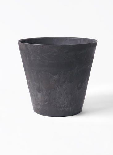 鉢カバー アートストーン ラウンド 10号鉢用 ブラック #GREENPOT AS-102165