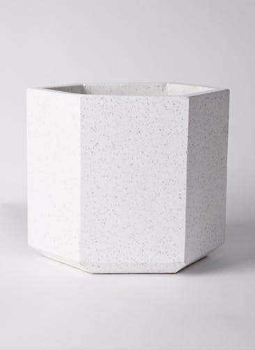 鉢カバー コーテス ヘックス  8号鉢用 ホワイトテラゾ #KONTON CT-006W10E