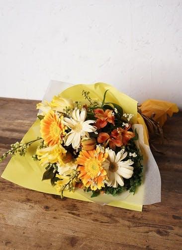 チューリップ 花束 イエローオレンジ M