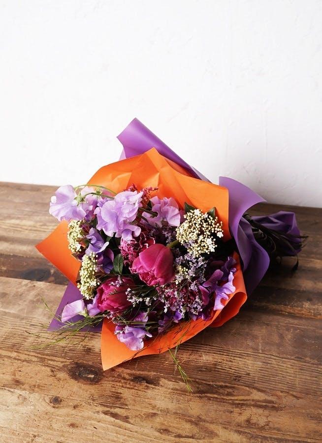 チューリップ 花束 パープル S
