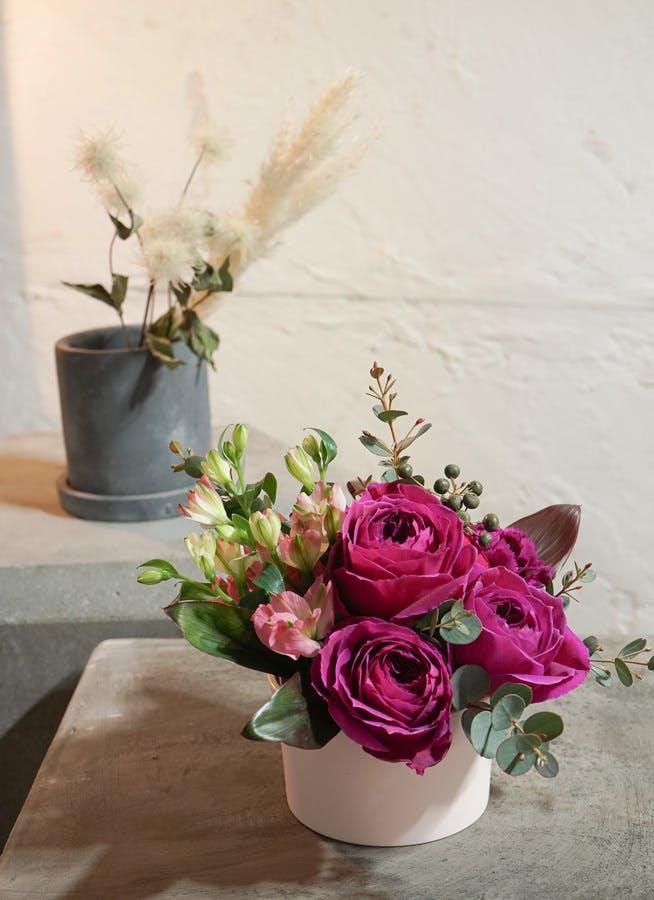 【母の日ギフト】 バラ アレンジメント ピンク XS【送料無料】