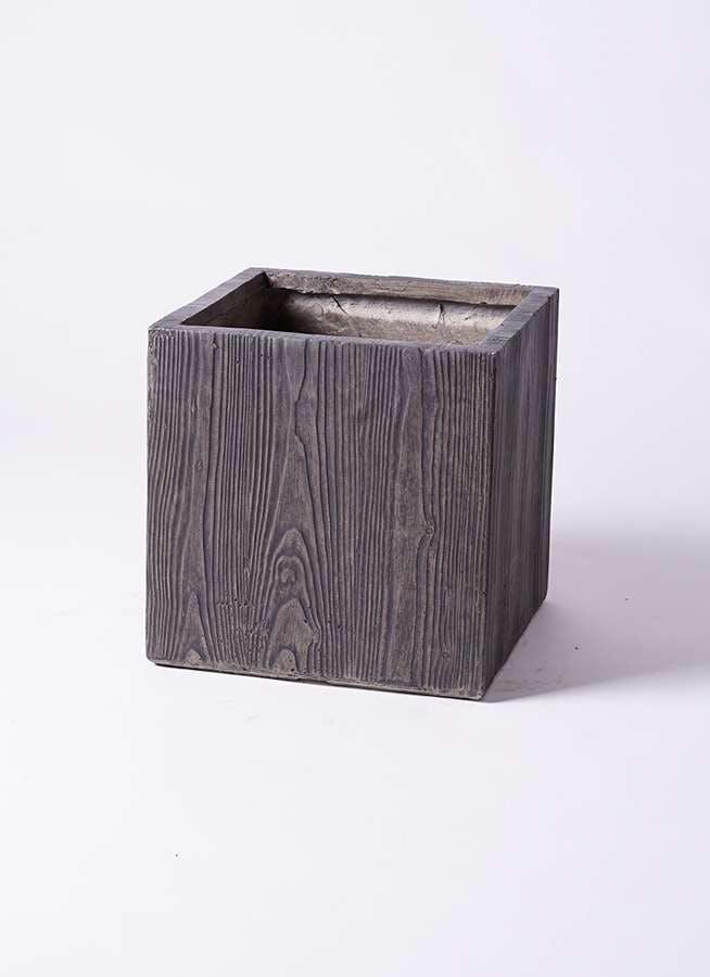 鉢カバー ベータ キューブプランター ウッド 8号鉢用 茶 #KONTON FM-002D36G