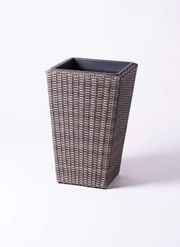 鉢カバー  ウィッカーポット スクエアロング OT 8号鉢用 茶 #KONTON WP-001C57E