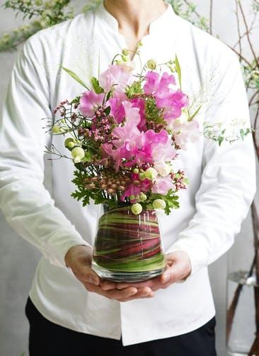 スイートピー アレンジメント ピンク S