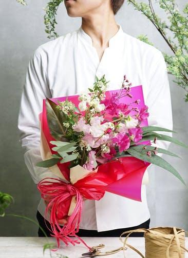 スイートピー 花束 ピンク SS