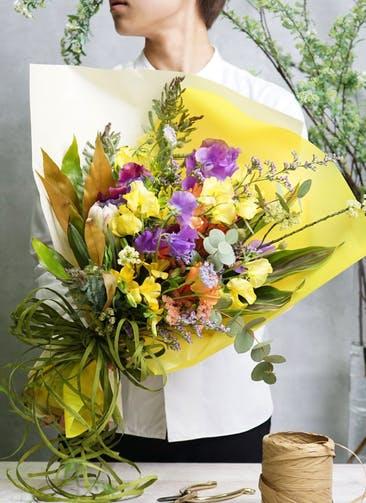 スイートピー 花束 パープル M