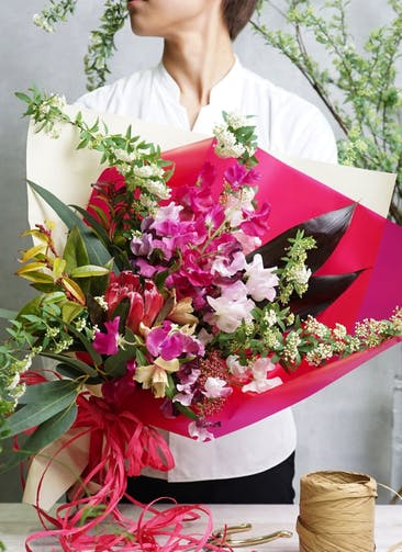 スイートピー 花束 ピンク M