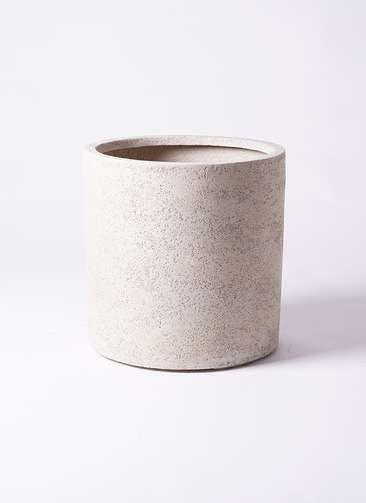 鉢カバー サンディ シリンダー 10号鉢用 白 #KONTON SA-003W45E