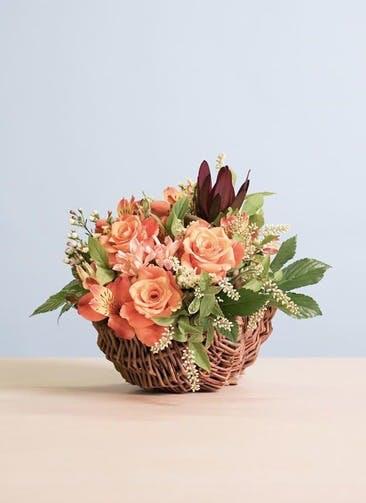 バラ アレンジメント オレンジ XS