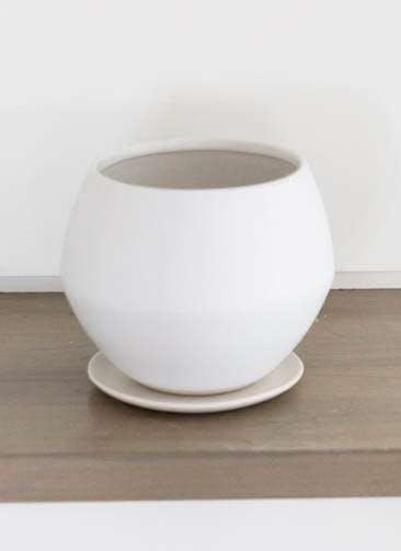 鉢カバー Color Crack(カラークラック) 4号鉢用 Mat White #stem C1321