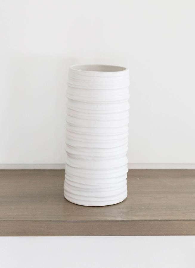 鉢カバー Color Crack(カラークラック) 3号鉢用 Mat White #stem C3326