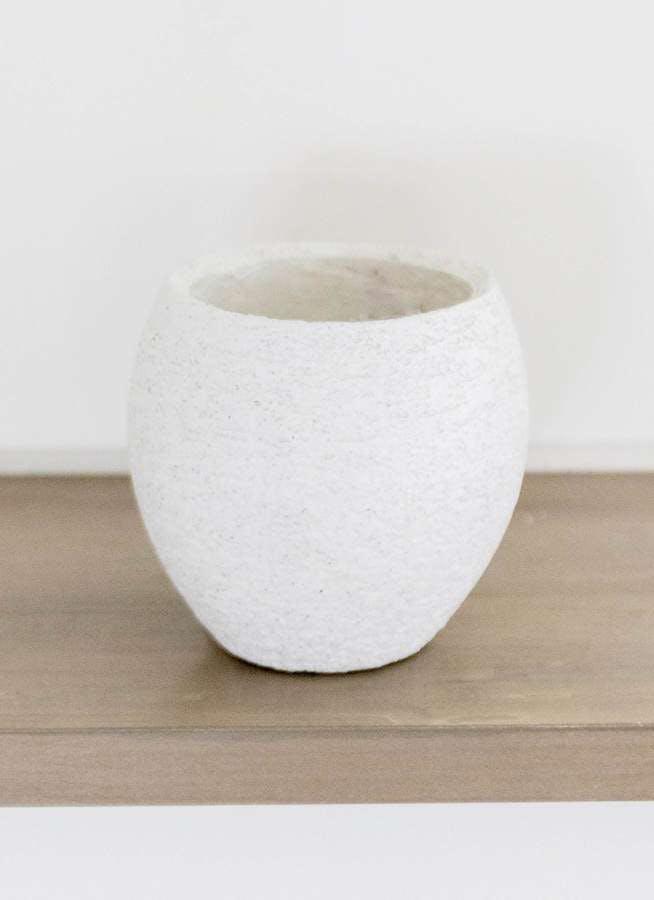 鉢カバー Eco Stone(エコストーン) 3号鉢用 white #stem F1808