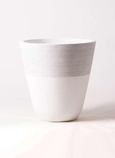 鉢カバー ジュピター 10号鉢用 白 #ミュールミル TL001-LWh