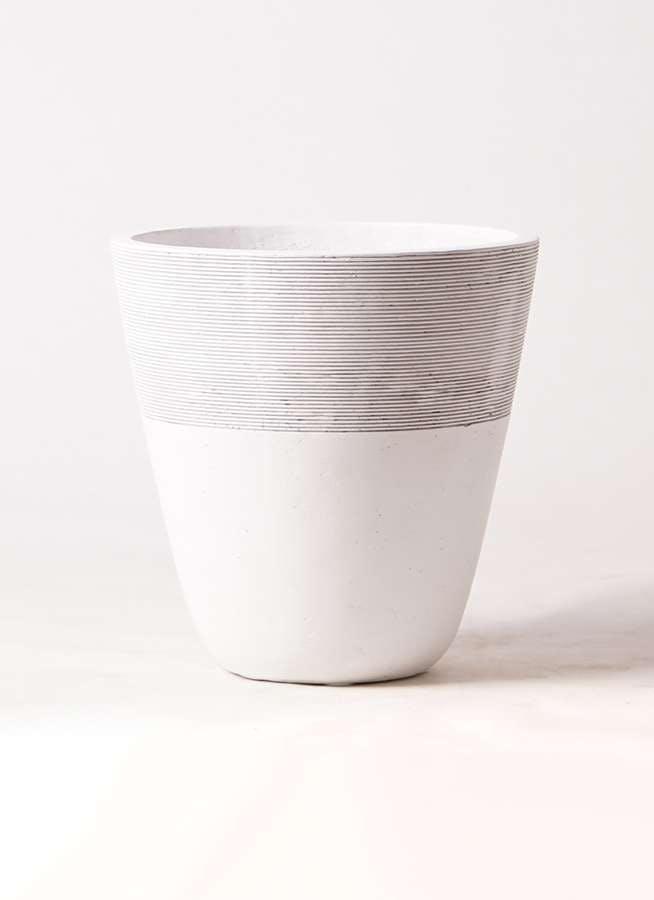 鉢カバー ジュピター 8号鉢用 白 #ミュールミル TL001-1MWh