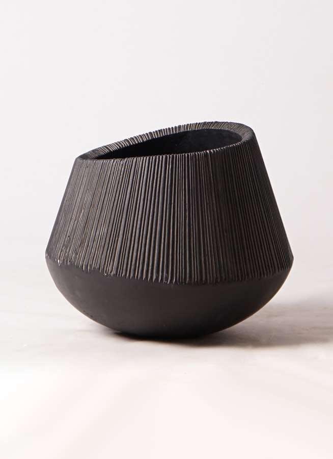 鉢カバー エディラウンド 8号鉢用 黒 #ミュールミル TL012-1LBk