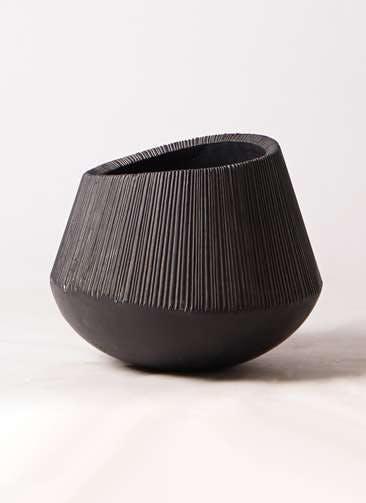 鉢カバー  エディラウンド 8号鉢用 黒 #ミュールミル TL-012-1LBk
