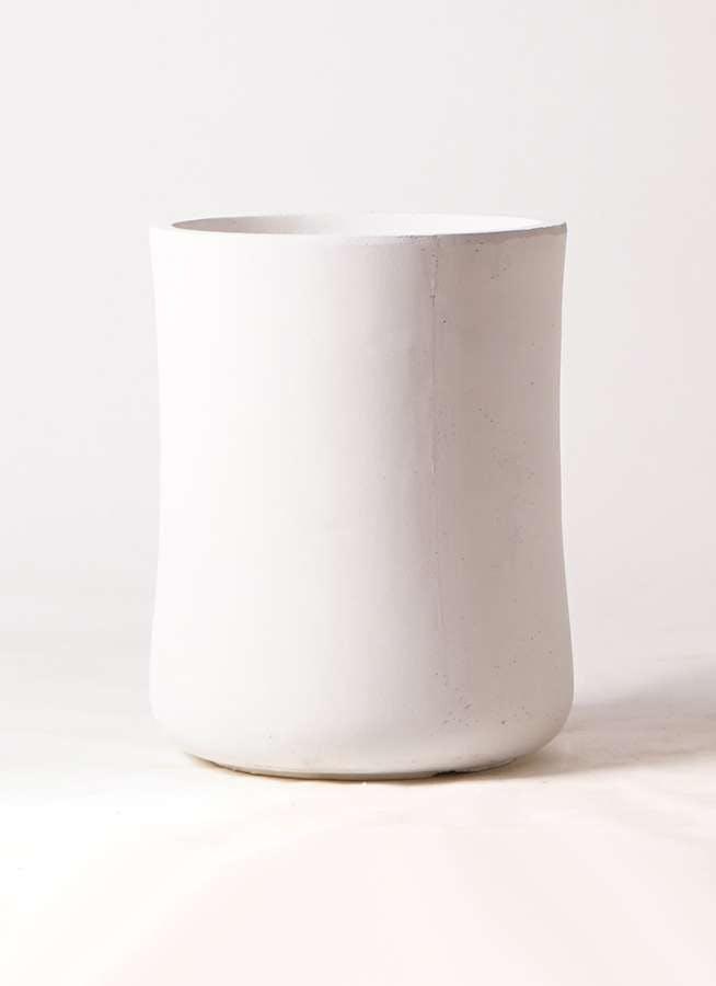 鉢カバー バスク ミドル 8号鉢用 ホワイト #GREENPOT GA-0537WH