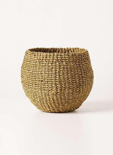 鉢カバー Abaca Basket(アバカバスケット) オリーブ 4号 #stem b1221