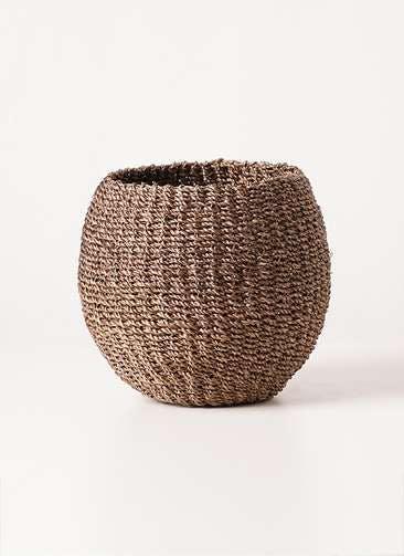 鉢カバー Abaca Basket(アバカバスケット) スモーク 4号 #stem b1221