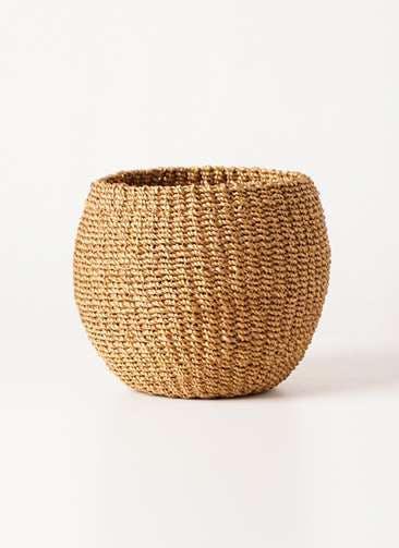 鉢カバー Abaca Basket(アバカバスケット) タン 4号 #stem b1221