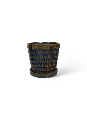 鉢カバー クラッツ ウロ 4号鉢用 ブルー #GREENPOT CP-2417BU