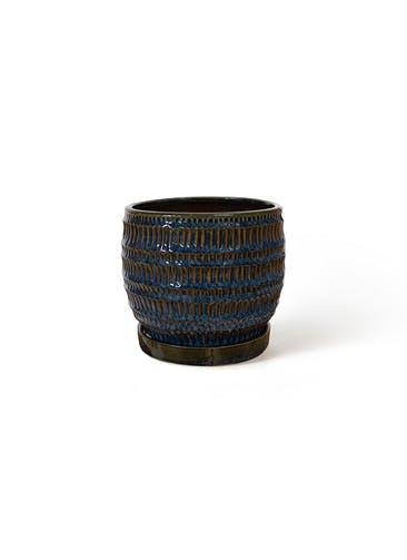 鉢カバー クラッツ シノ 4号鉢用 ブルー #GREENPOT CP-2518BU