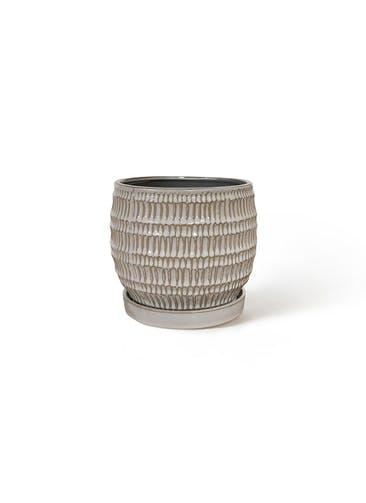 鉢カバー クラッツ シノ 4号鉢用 ホワイト #GREENPOT CP-2518WH