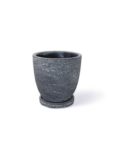 鉢カバー ブロンクス ラウンド 4号鉢用 ブラック #GREENPOT NC-0217BK