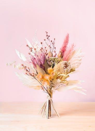ドライフラワー 花束 ピンク M