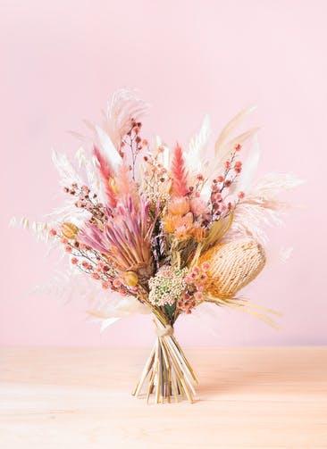 ドライフラワー 花束 ピンク L