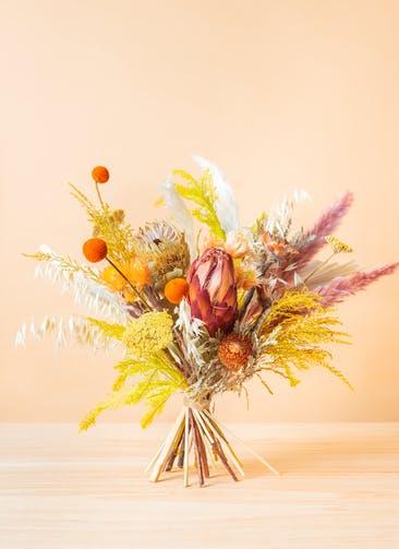 ドライフラワー 花束 イエロー&オレンジ L