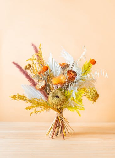 ドライフラワー 花束 イエロー&オレンジ M