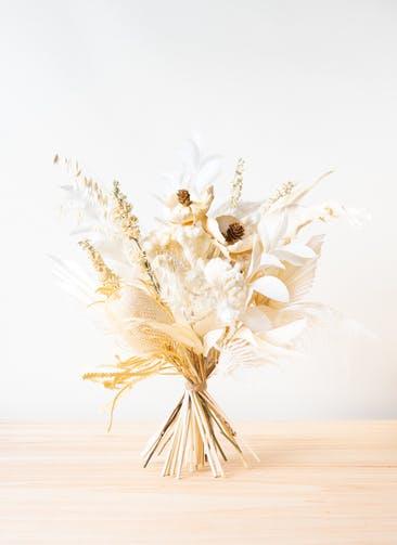 ドライフラワー 花束 ホワイト L