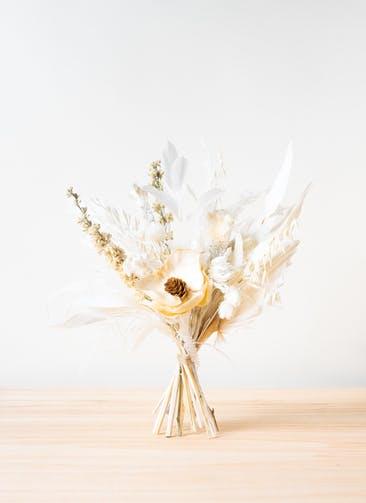 ドライフラワー 花束 ホワイト S