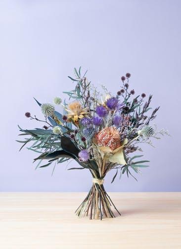 ドライフラワー 花束 パープル S