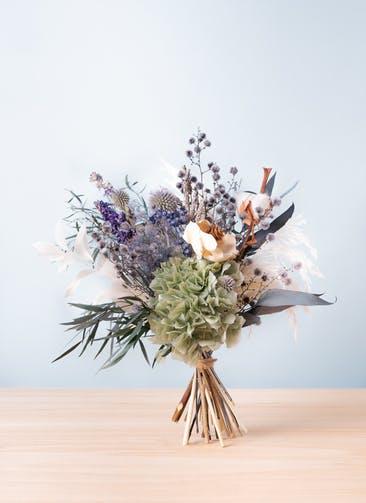 ドライフラワー 花束 ブルー M