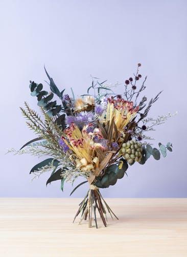 ドライフラワー 花束 パープル M