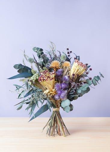 ドライフラワー 花束 パープル L