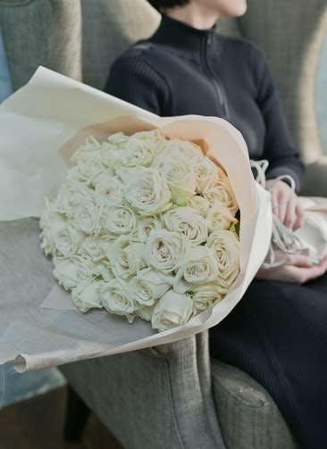 バラ 花束 ホワイト L (50本入)