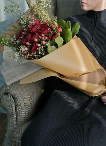 バラ 花束 レッド L スタンダード