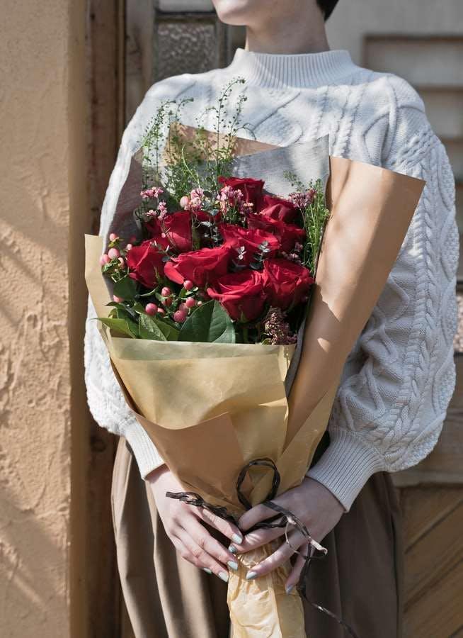 バラ 花束 レッド M スタンダード
