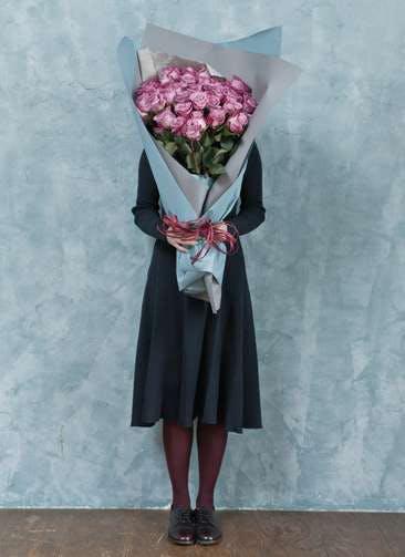 バラ 花束 パープル L (50本入)