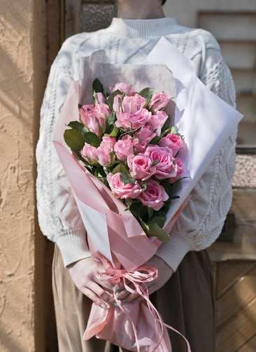 バラ 花束 ピンク M (30本入)
