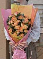 バラ 花束 オレンジ M (30本入)