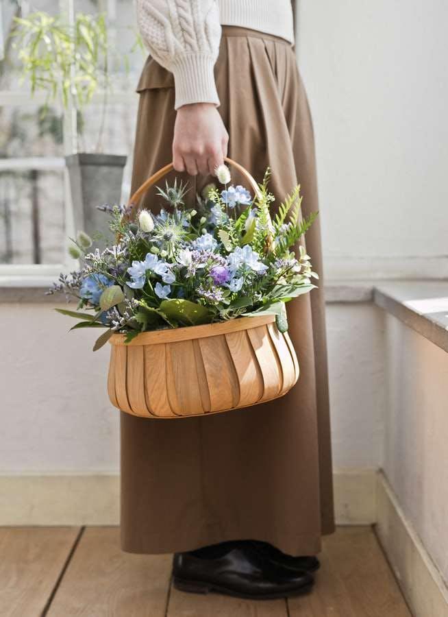 草花系 アレンジメント ブルー&パープル L