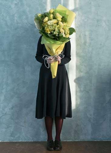 トルコキキョウ 花束 イエロー L スタンダード